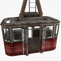 cable car 3d max