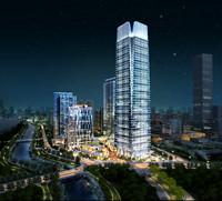 3d model modular skyscraper business center