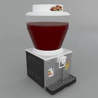 3d cold drink dispenser model