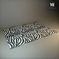 modern carpet zebra dxf