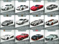 3d supercars cars model