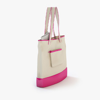 ladies bag pink 3d max