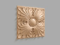 3d wooden decor model