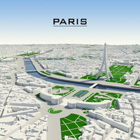 paris cityscape 3d max