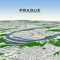 prague cityscape 3d model