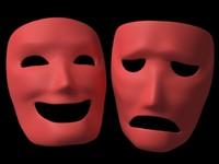 comedy masks 3d model
