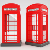 free max model red telephone box