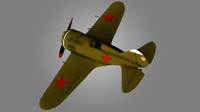 3d polikarpov i-16 fighter