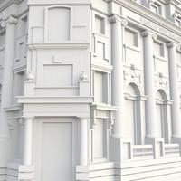 free vintage building 3d model
