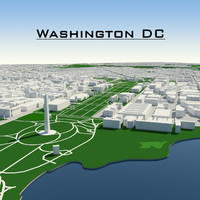 3d washington dc cityscape model