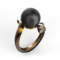 maya pearl-ring stl gold