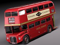 bus double london 3d 3ds
