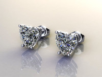 earrings diamond ring 3d 3dm