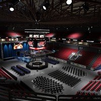 3d model ufc fighting arena