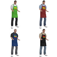 3d pack rigged supermarket worker