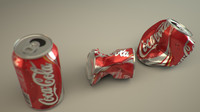 3d model crushed soda cans