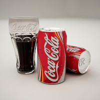 3d model coca cola glass