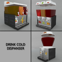 cold drink dispenser 3d model