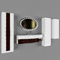 3d model restroom bathroom mirror 01