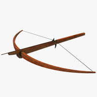 rigged crossbow 3d ma