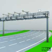 3d multi lane flow model