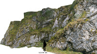 3d model of rock scanned nature