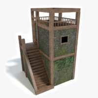 3d model watch tower