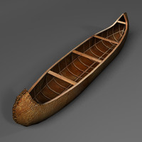3d model native canoe
