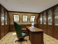 3d home office interior model