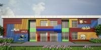3d model of exterior kindergarten