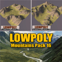 Lowpoly Mountain Pack 16