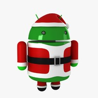 3d model android santa
