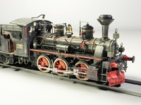 European Steam Locomotive Engine Train