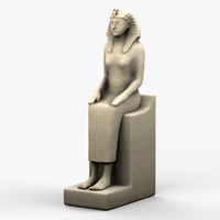 egyptian female sculpture 3d model