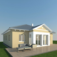 single family house 3d max