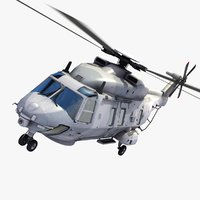 3d 3ds nh caiman helicopter french