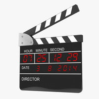digital clapperboard 3d max