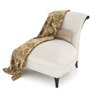 3d augusta slipper chair 60-0282 model