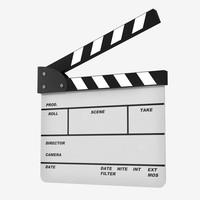3d model film clapperboard