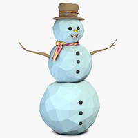 3ds max snowman snow man