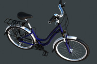 lady cycle 3d model