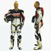 body scan biker references 3d obj
