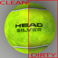3d tennis ball head model