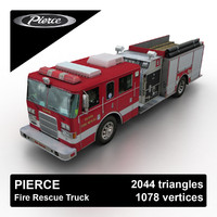 3d pierce rescue truck games model