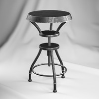 3ds max austin iron adjustable bar stool