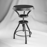 3ds max austin iron adjustable bar stool