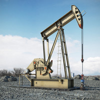 3d oil pumpjack model