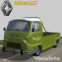 renault estafette pickup 3d model
