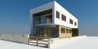 3d villa modern houses