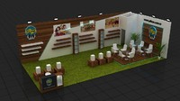 fair stand exhibition design 3d max